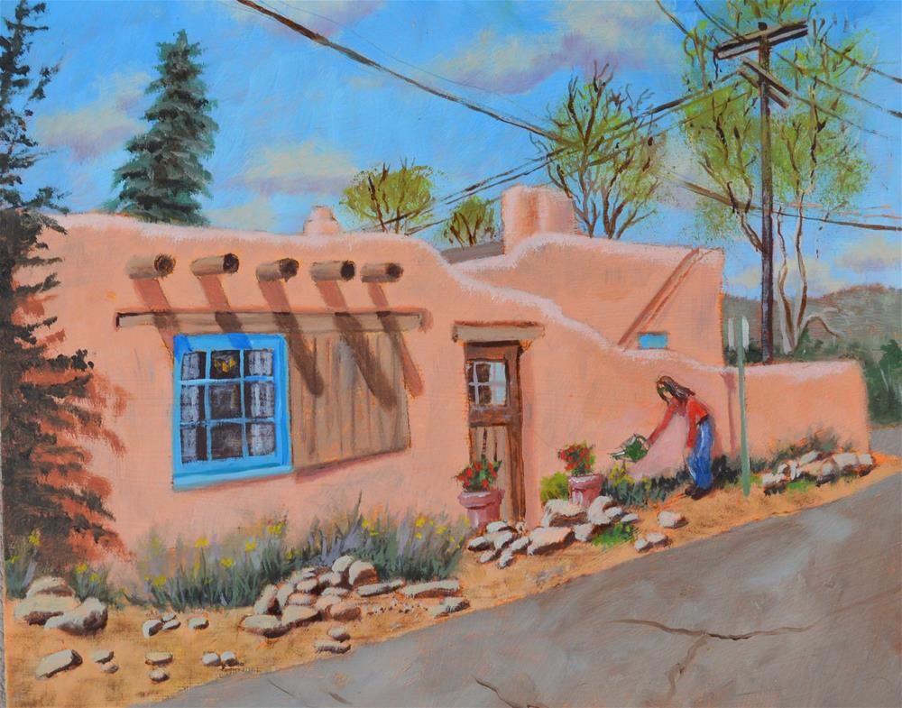 """Spring in Santa Fe"" original fine art by Robert Frankis"