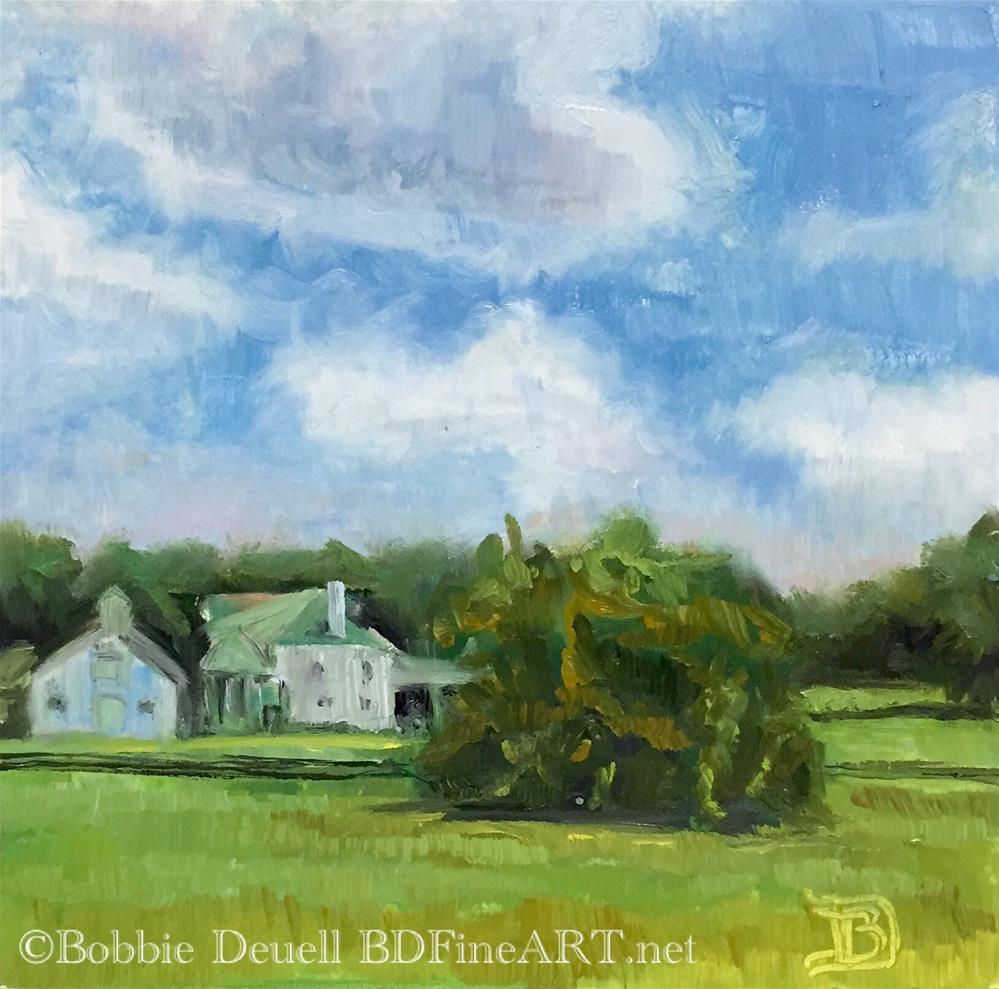 """#23 Farmhouse"" original fine art by Bobbie Deuell"