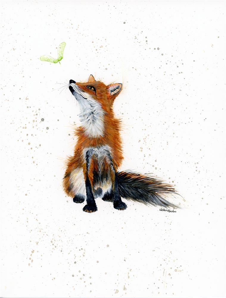 """""""Maple Key Fox"""" original fine art by Helen Kuhn"""