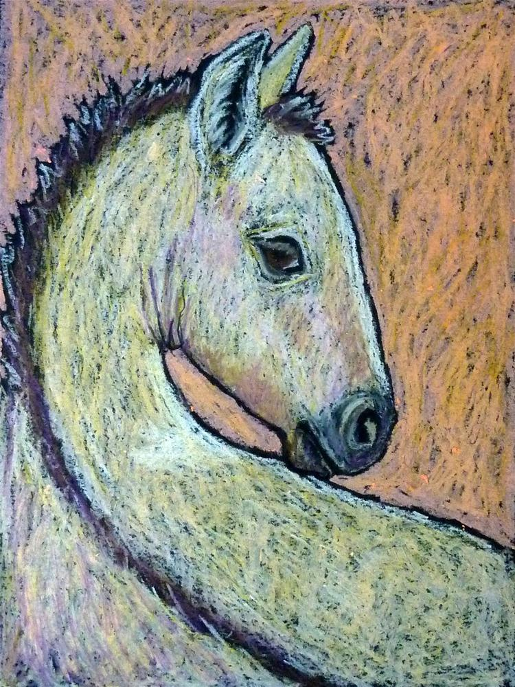 """Sleepy Buckskin Foal"" original fine art by Ande Hall"