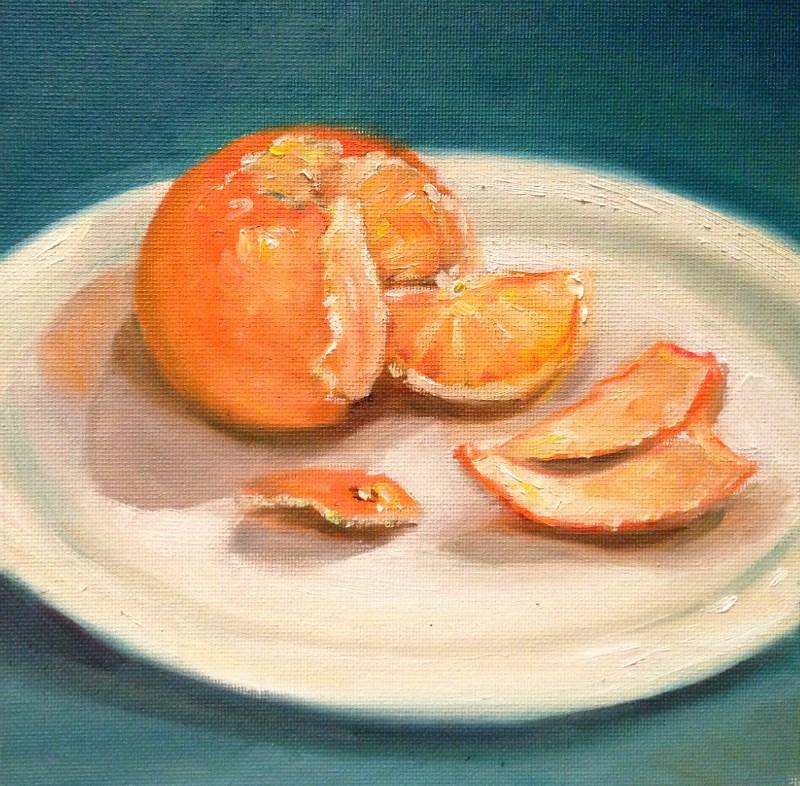 """Mandarin"" original fine art by Beth Moreau"
