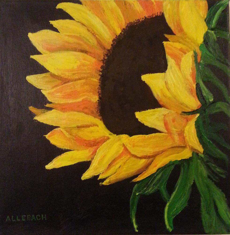 """""""Sunflower Facing"""" original fine art by Jo Allebach"""