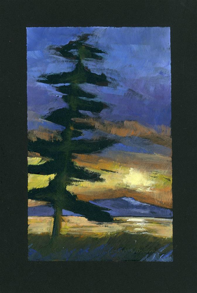 """""""Sunset on Black"""" original fine art by Eileen Hennemann"""