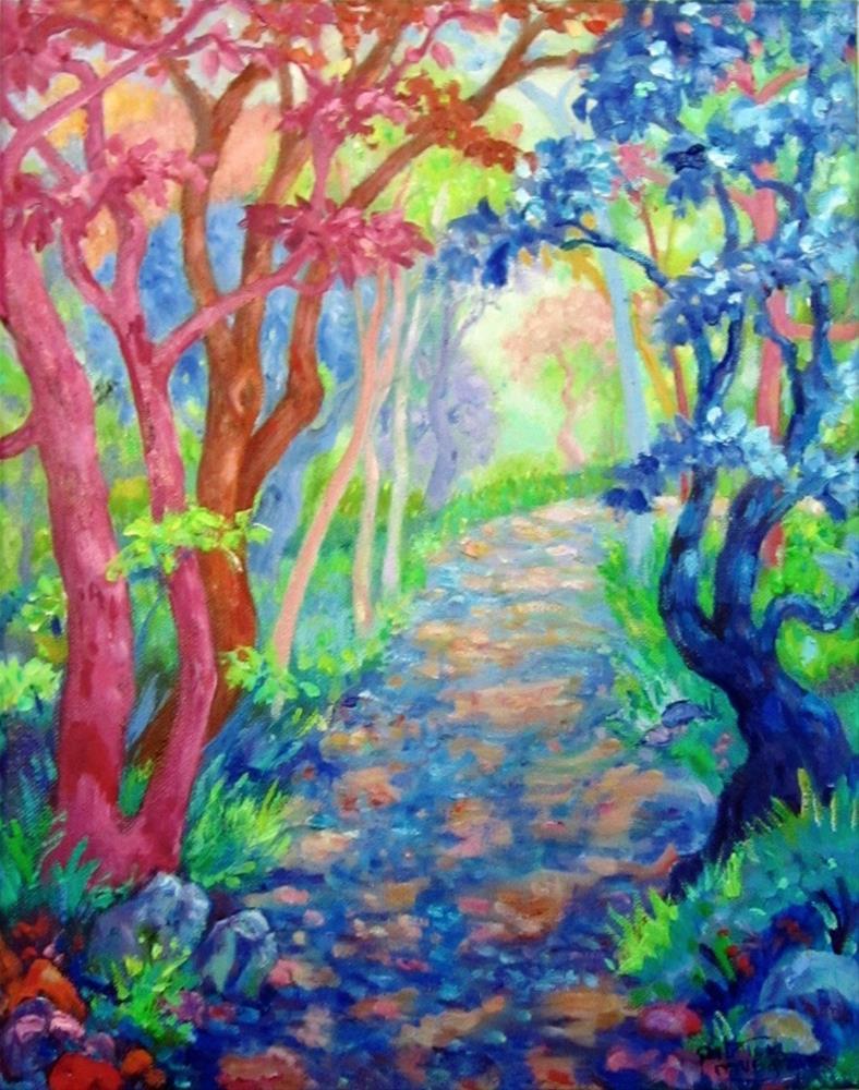 """A Walk in Fauve Woods"" original fine art by Patricia Musgrave"