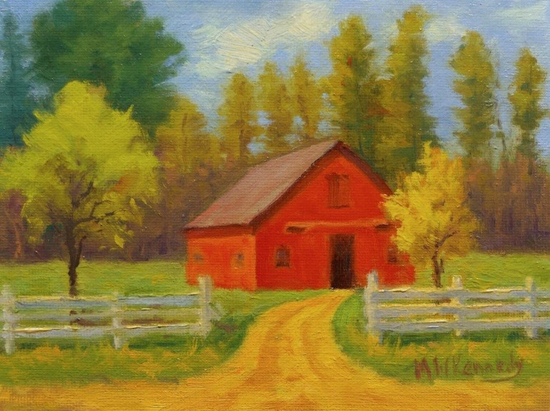 """""""Another Place in Time"""" original fine art by Michael Kennedy"""