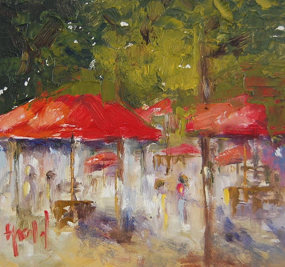 """Parisian Park"" original fine art by Deborah Harold"