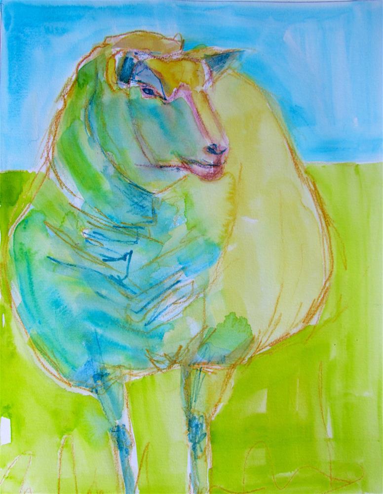 """Baa"" original fine art by Patricia MacDonald"