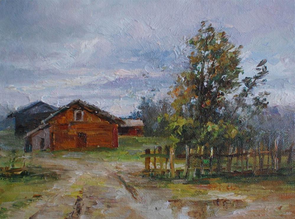 """After the Rain"" original fine art by Kelvin Lei"