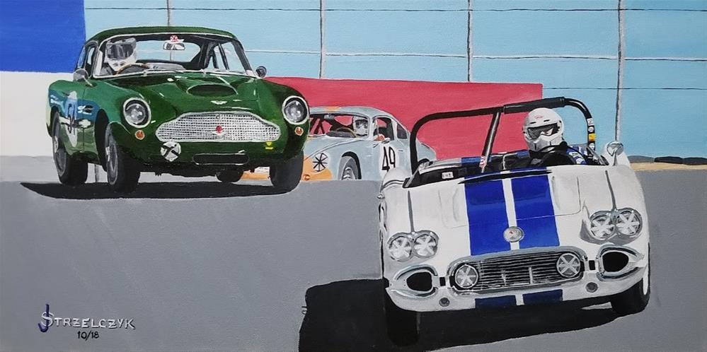 """Vintage Speed"" original fine art by Jeff Strzelczyk"
