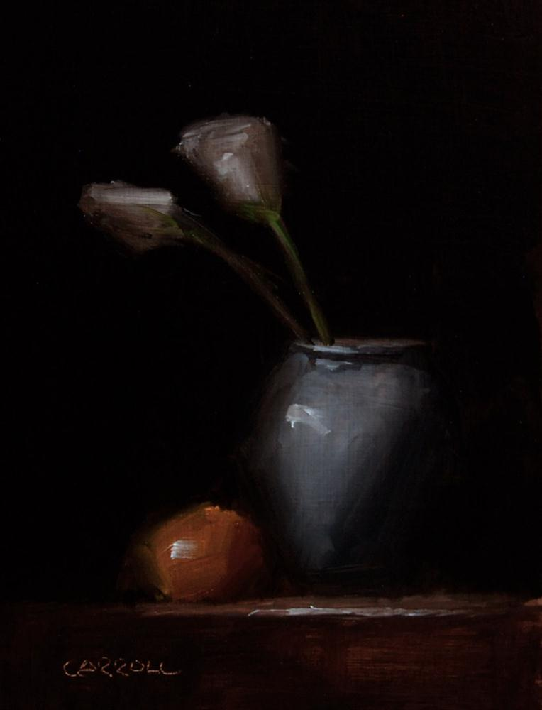 """Flower Pot"" original fine art by Neil Carroll"