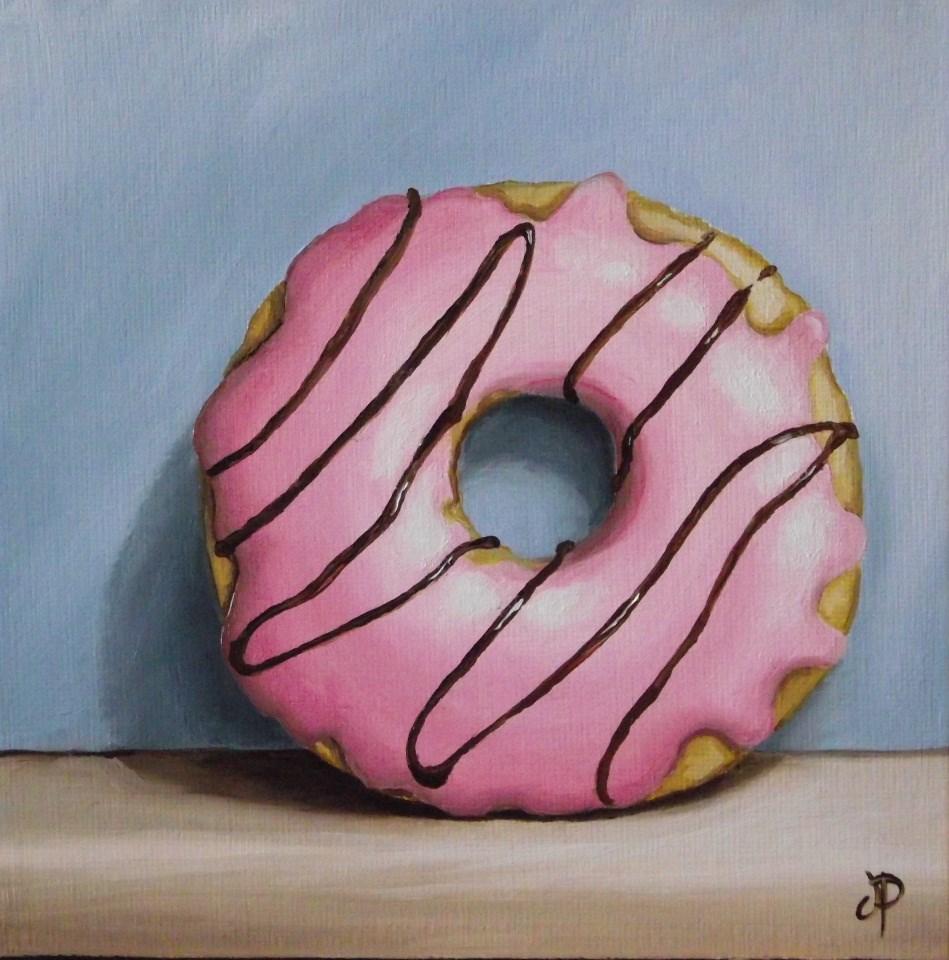 """Iced Doughnut"" original fine art by Jane Palmer"