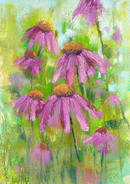 """A Fun Way to Start a Pastel Painting"" original fine art by Karen Margulis"