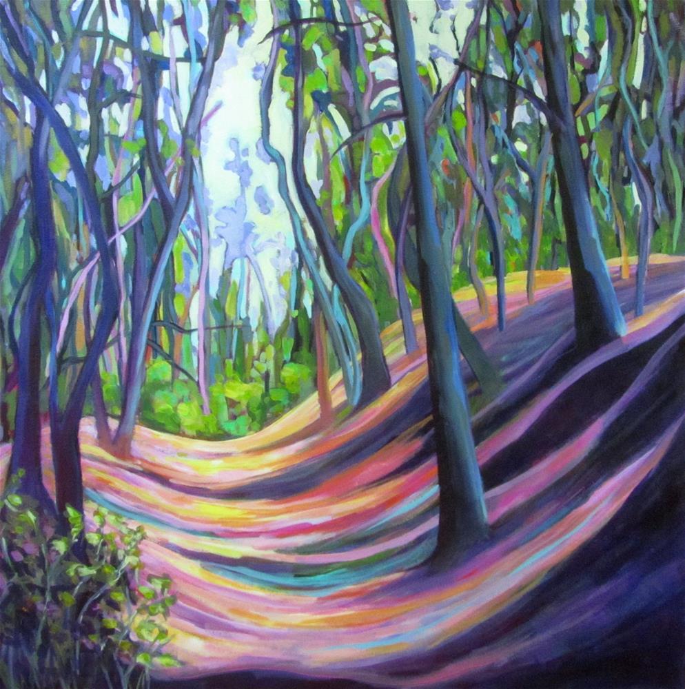 """""""Beyond the Ochre Quarry"""" original fine art by Patricia MacDonald"""
