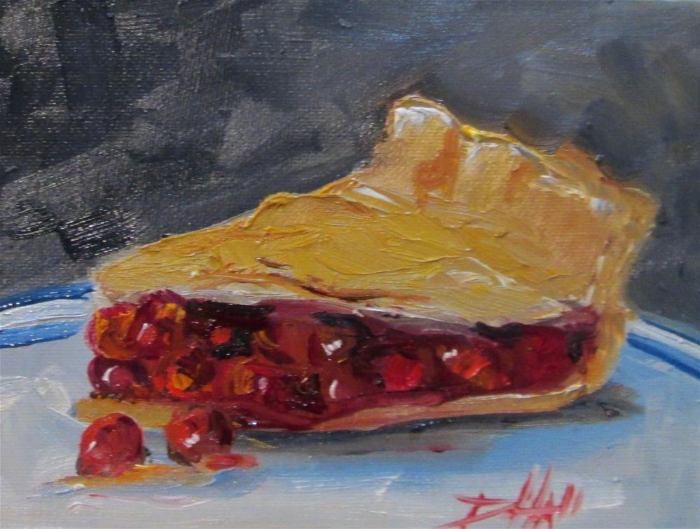 """Cherry Pie"" original fine art by Delilah Smith"