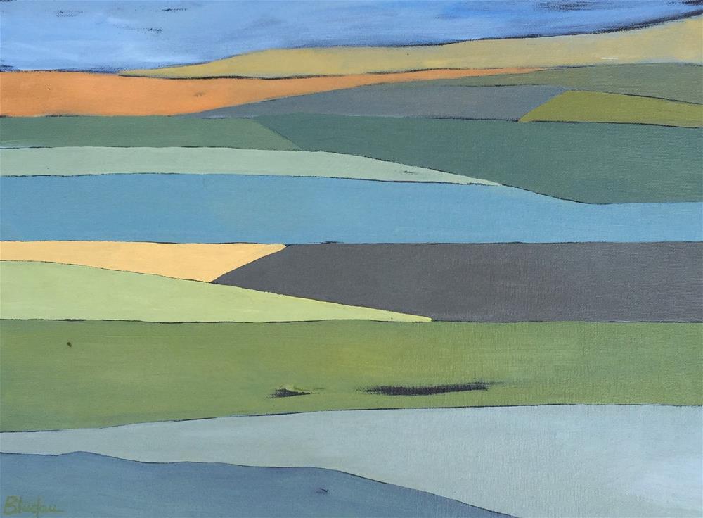 """""""Farmlands 11"""" original fine art by Janet Bludau"""