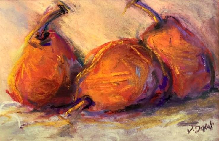 """""""Pastel Pears"""" original fine art by Kristen Dukat"""