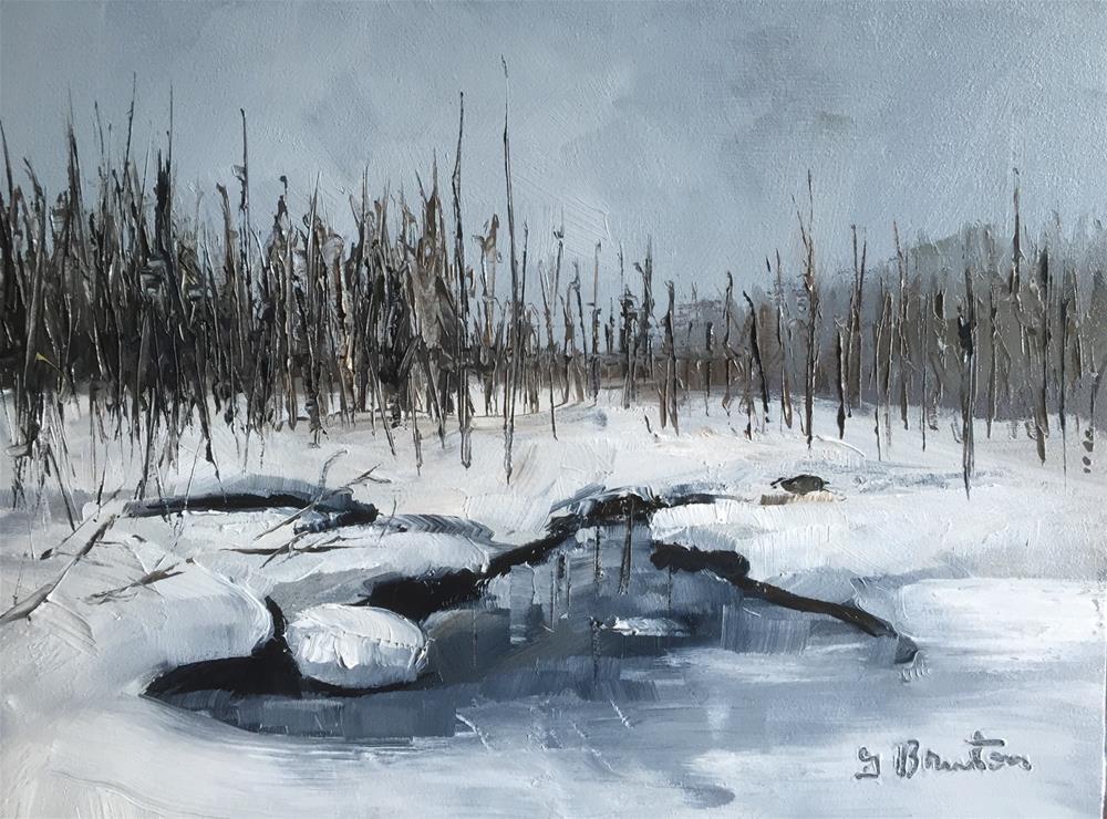 """""""Winter Wonderland"""" original fine art by Gary Bruton"""