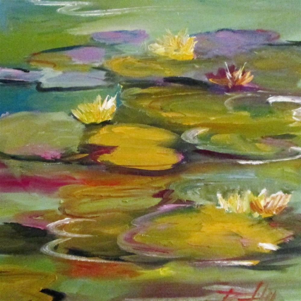 """Lily Pads"" original fine art by Delilah Smith"