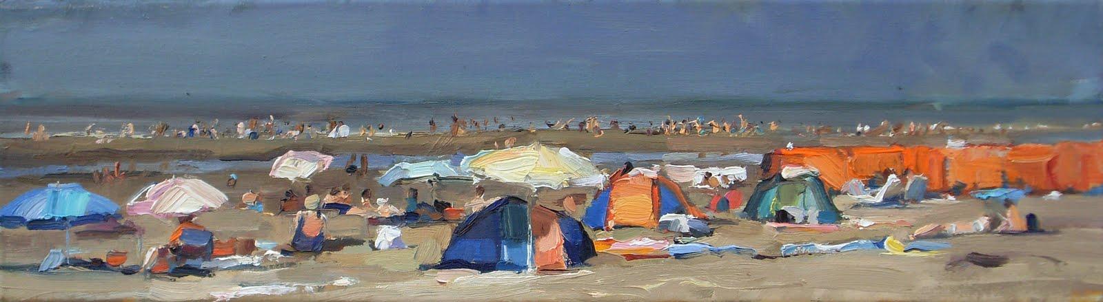 """Laatste zomerse dag misschien - Last summersday"" original fine art by Roos Schuring"
