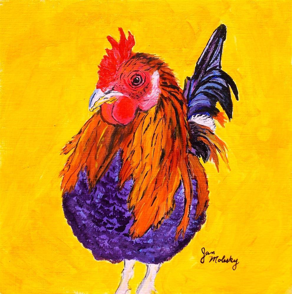 """""""Barney"""" original fine art by Jan Molesky"""