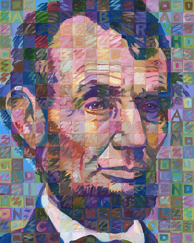 """Abraham Lincoln #2"" original fine art by Randal Huiskens"