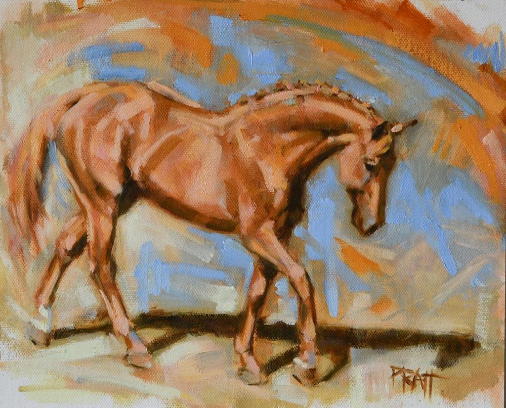 """In the Moment #5"" original fine art by Jennifer Pratt"
