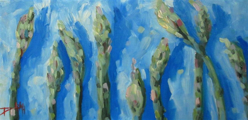 """Asparagus"" original fine art by Delilah Smith"