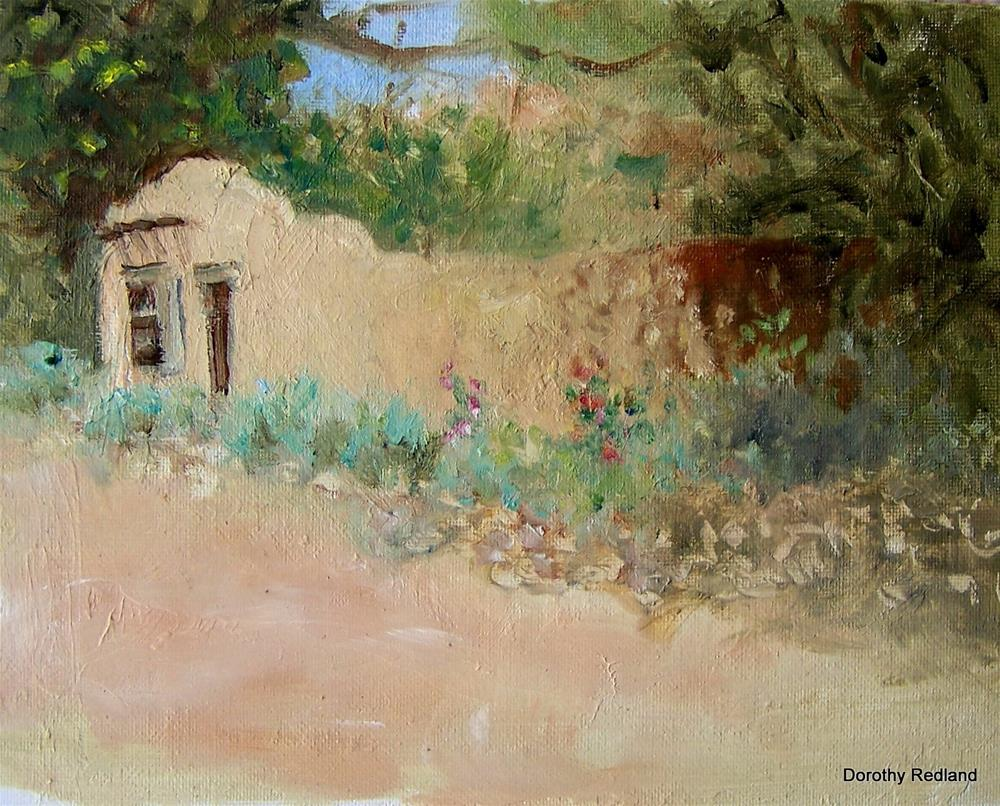 """Summertime in Taos"" original fine art by Dorothy Redland"