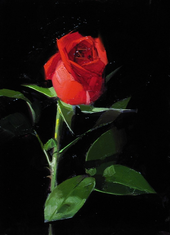 """""""To My Valentine 1"""" original fine art by Qiang Huang"""