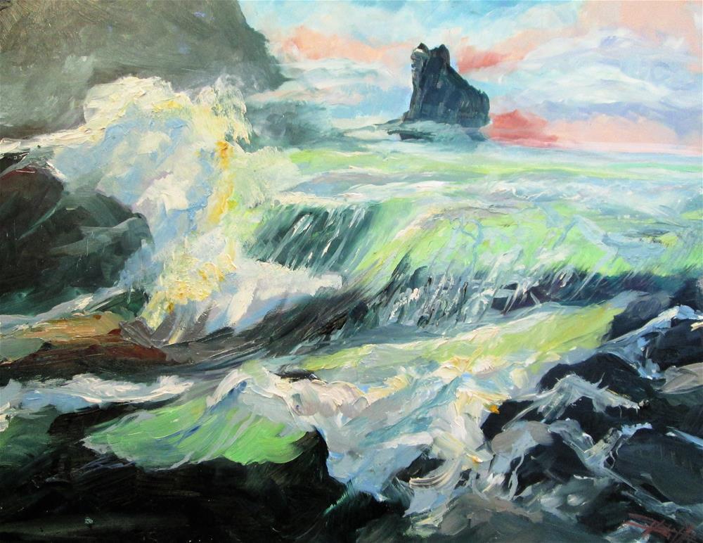 """Breaking Waves"" original fine art by Delilah Smith"