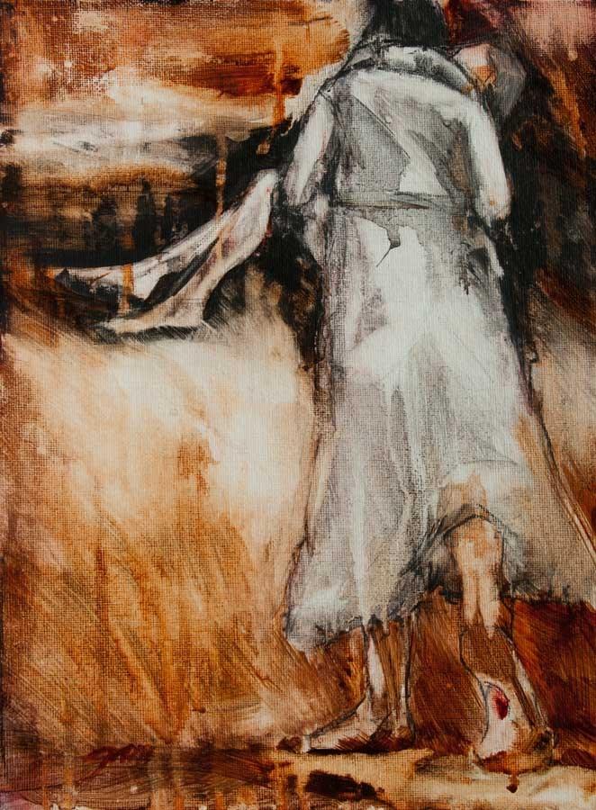 """He Walks With Me 1"" original fine art by Jani Freimann"