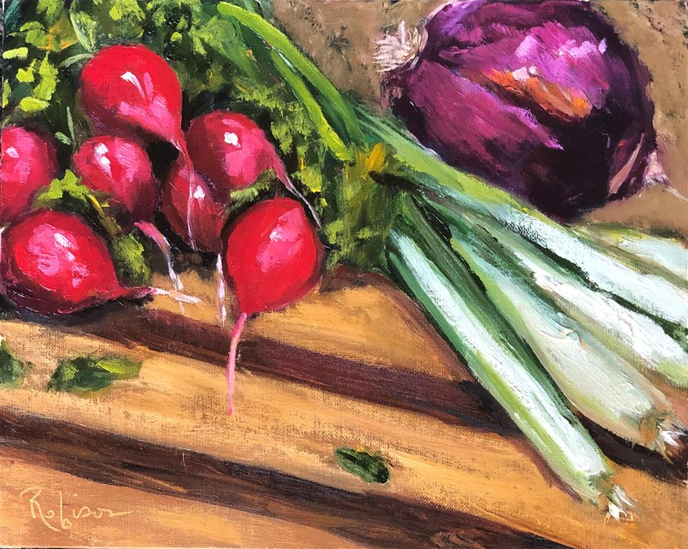 """Salad Prep"" original fine art by Renee Robison"