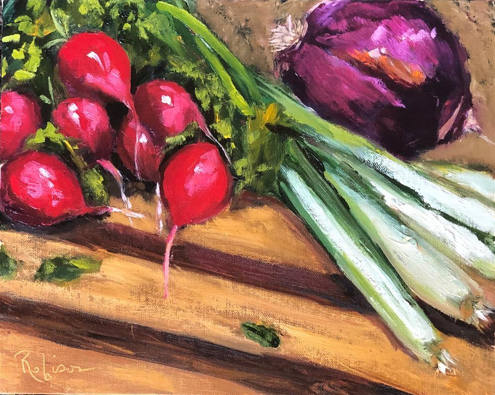 """Salad Prep"" original fine art by Renee Robison"