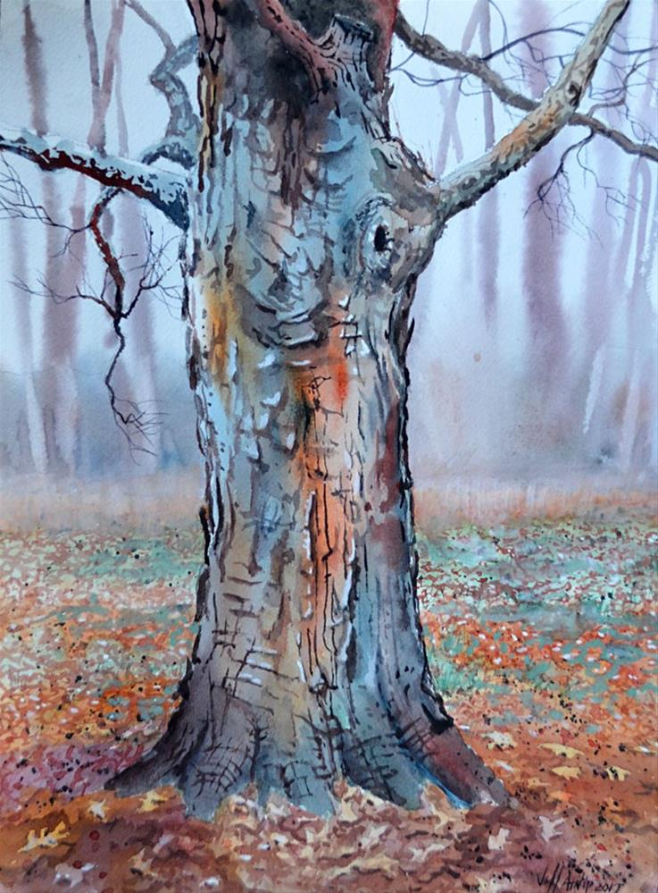 """Maple Bark"" original fine art by Jeff Atnip"
