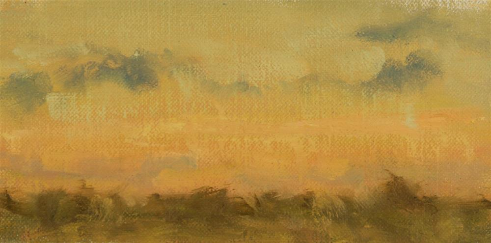 """""""Fall Sunset 12"""" original fine art by Scott Serafica"""