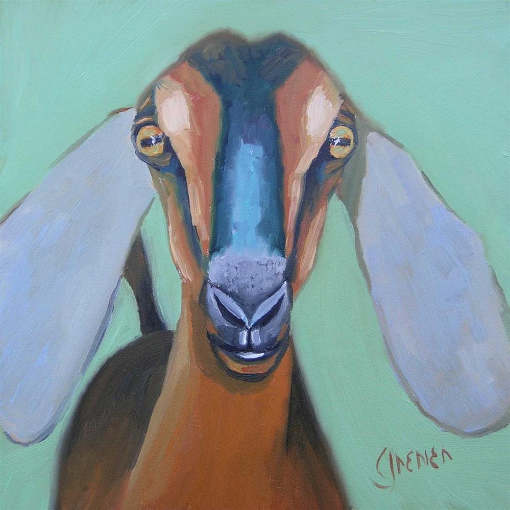 """""""Nubian Goat"""" original fine art by jean grenier"""