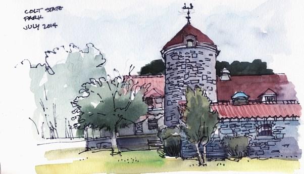 """Colt State Park Sketches"" original fine art by Kathy Weber"