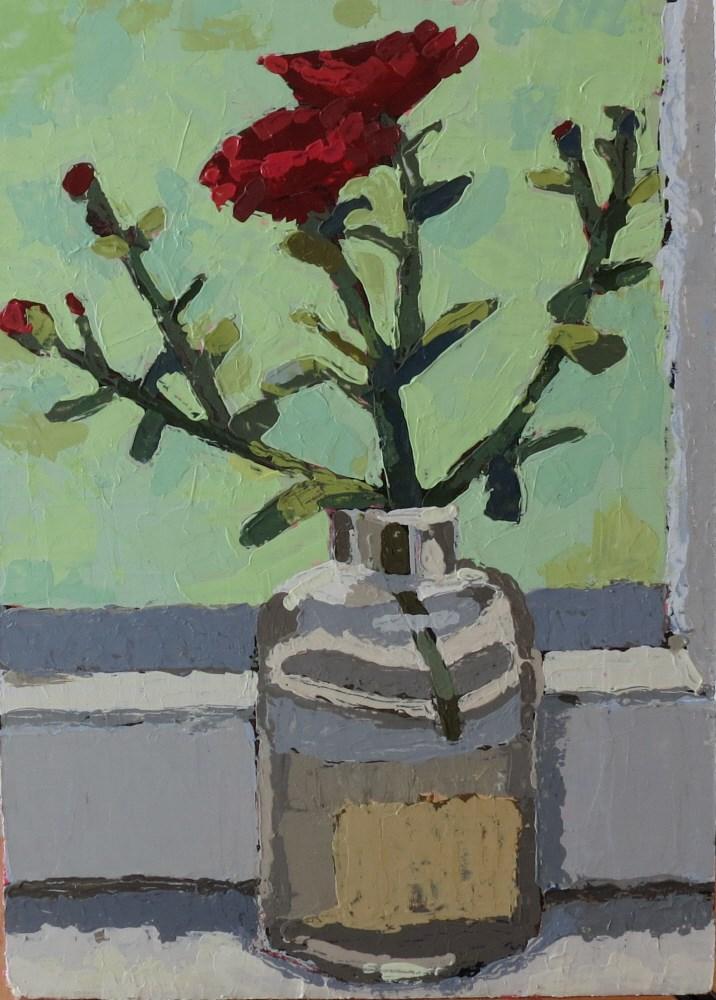 """Rainy Day Mums"" original fine art by Joan Wiberg"