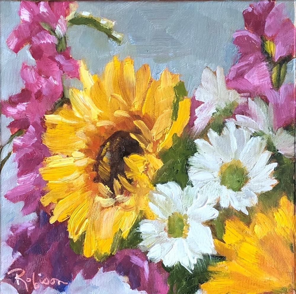 """""""Sunflower Bouquet"""" original fine art by Renee Robison"""