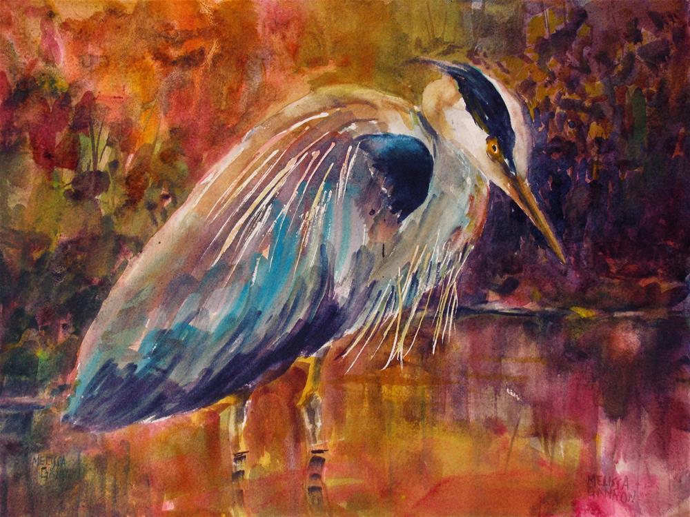 """Stalking II"" original fine art by Melissa Gannon"