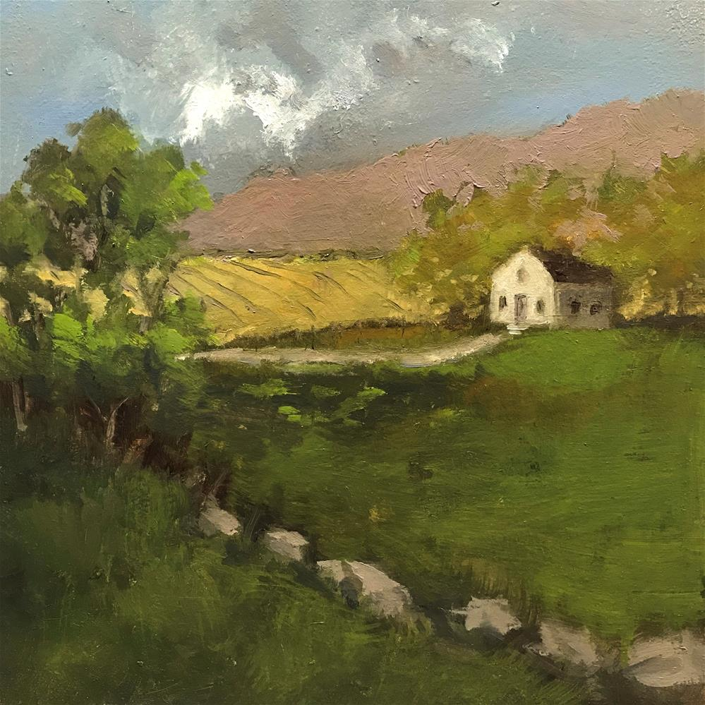 """field at the foot of the mountain "" original fine art by Betty Argiros"