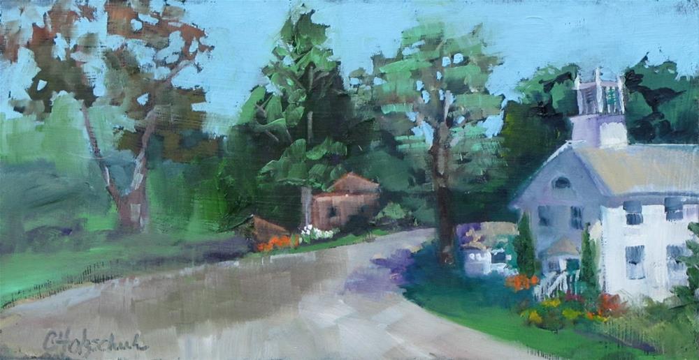 """Uptown"" original fine art by Christine Holzschuh"