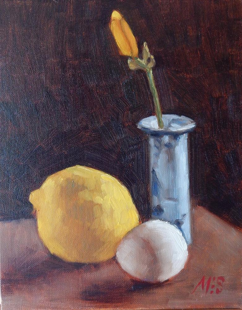 """""""Lily With Lemon and Egg"""" original fine art by Megan Schembre"""