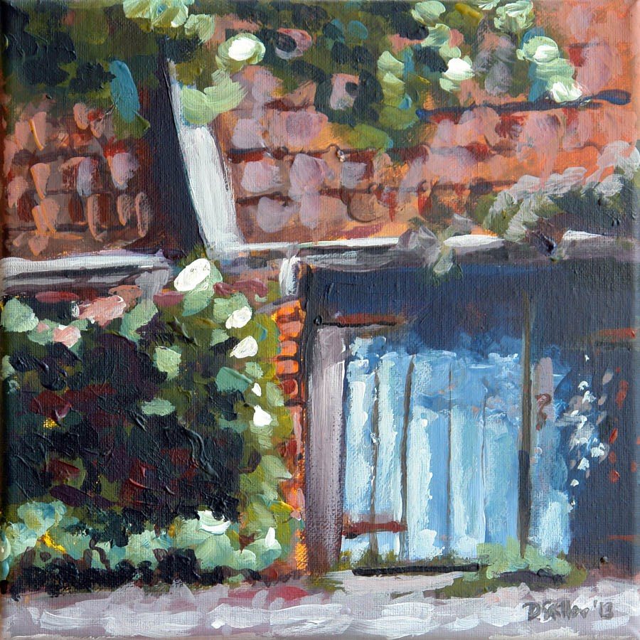 """0633 Around the Corner - Um die Ecke"" original fine art by Dietmar Stiller"