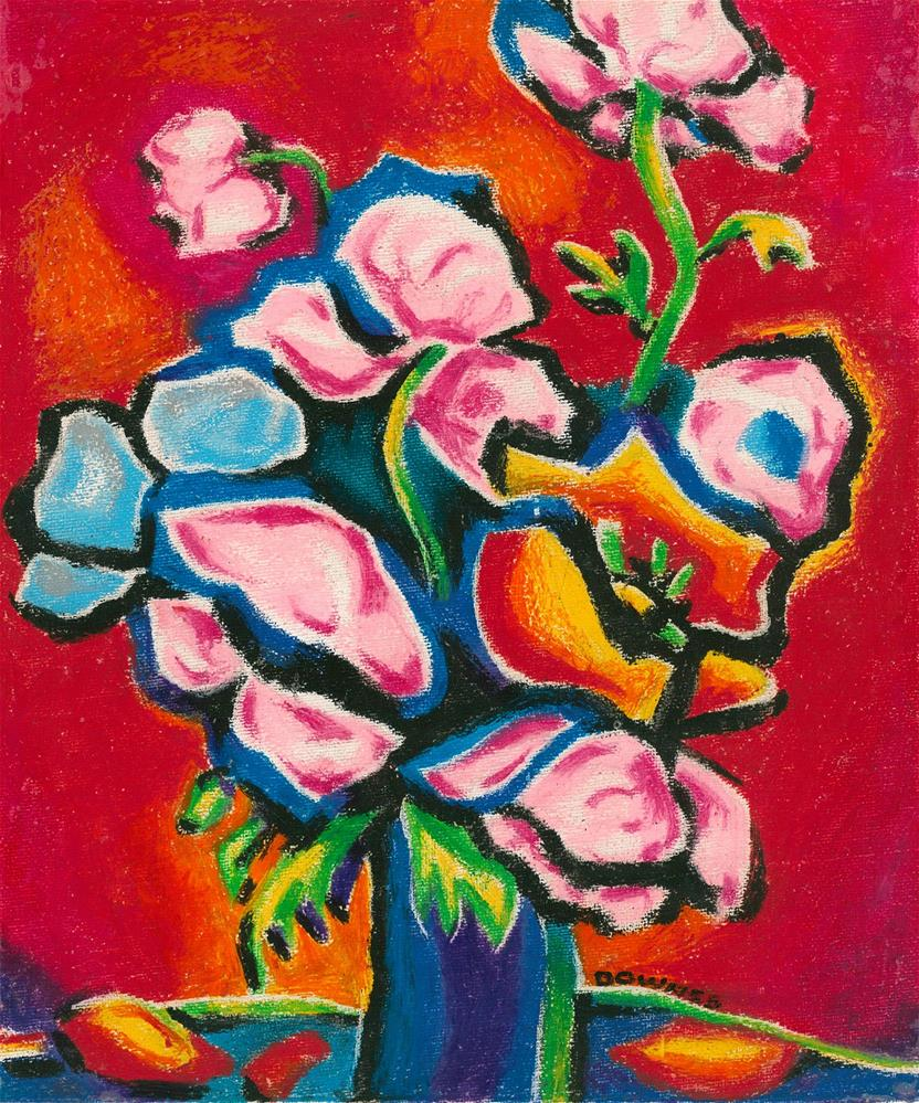 """""""121 FLOWERS ABSTRACT 1"""" original fine art by Trevor Downes"""