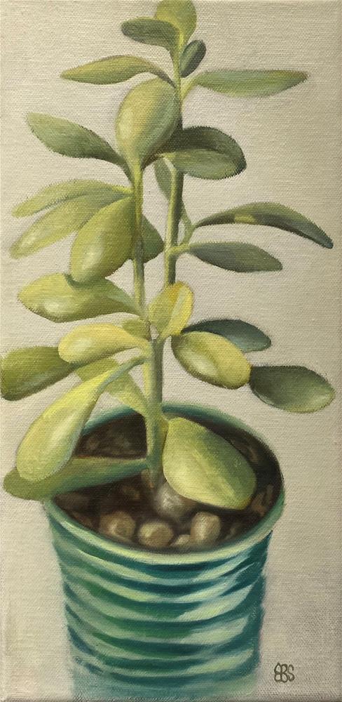 """""""Jade Plant"""" original fine art by Elaine Brady Smith"""