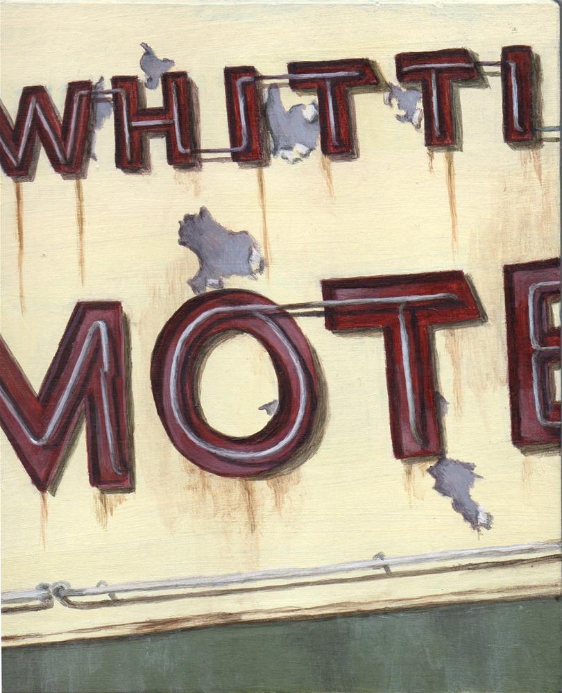 """Motel 1"" original fine art by Debbie Shirley"
