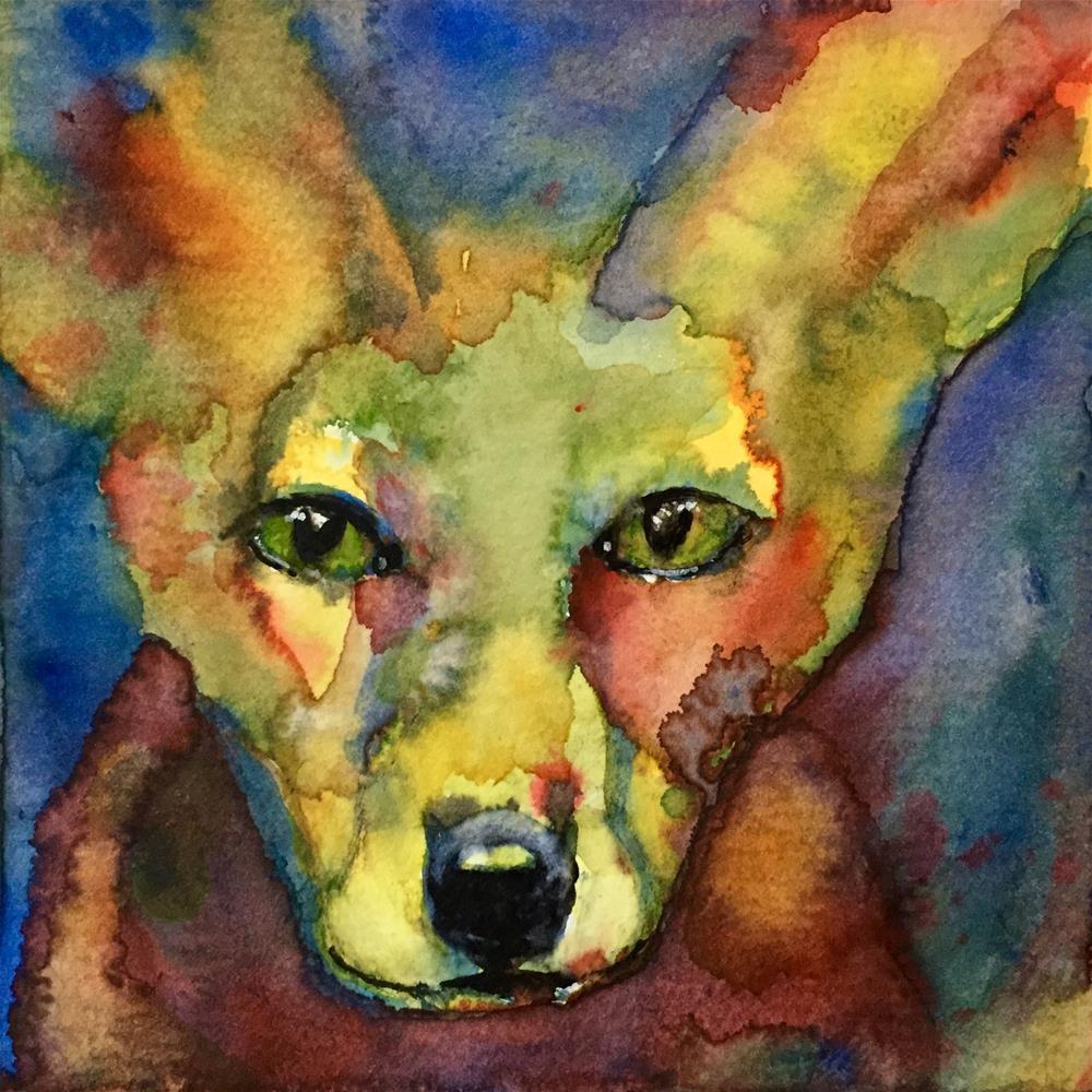 """#64 Foxy"" original fine art by Silke Powers"