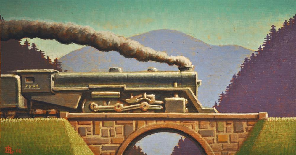 """Iron Horse"" original fine art by Robert LaDuke"