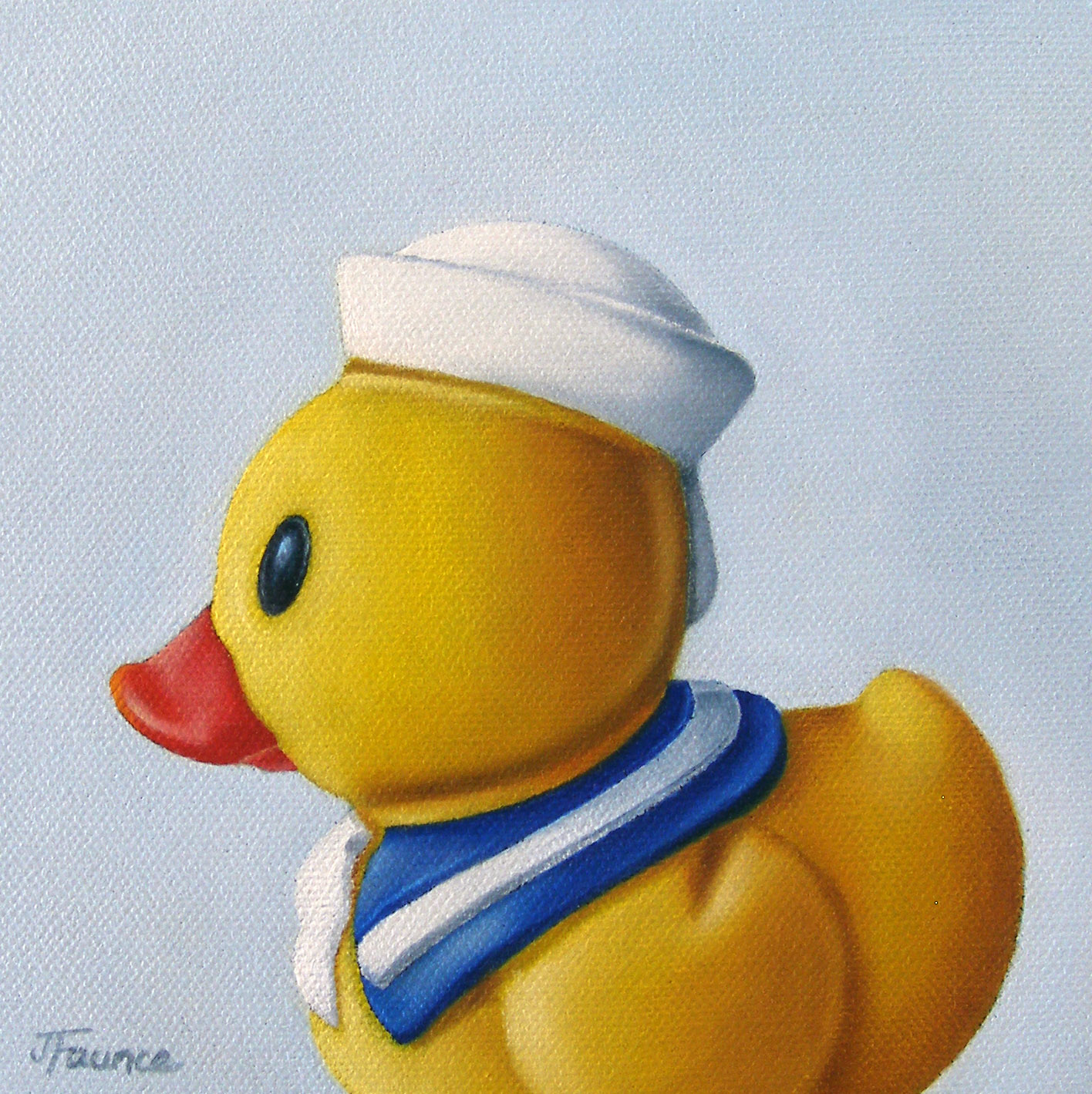 """Rubber Duckie In Profile"" original fine art by Jelaine Faunce"